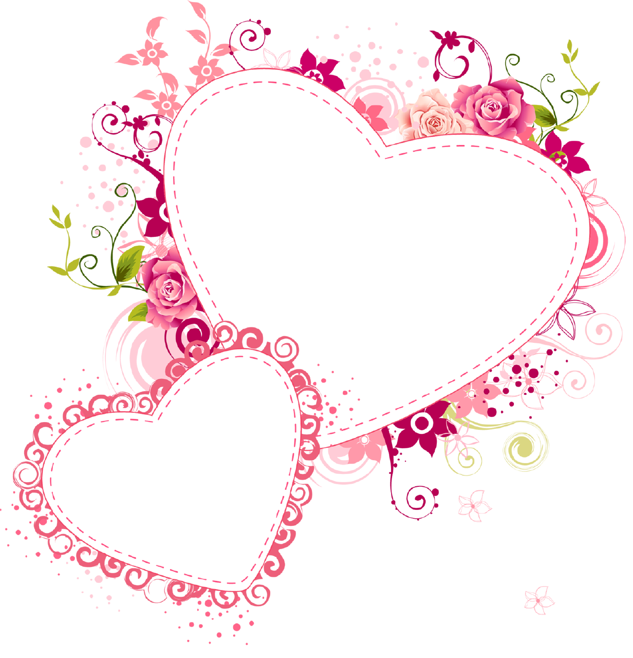 borders and frames heart frame flower frame pink hearts clip art ...