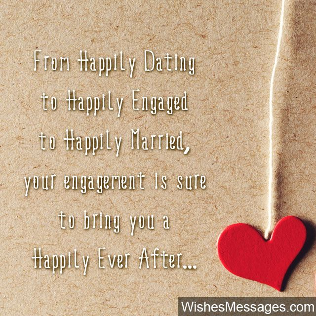 Happily ever after cute Engagement wishes Engagement