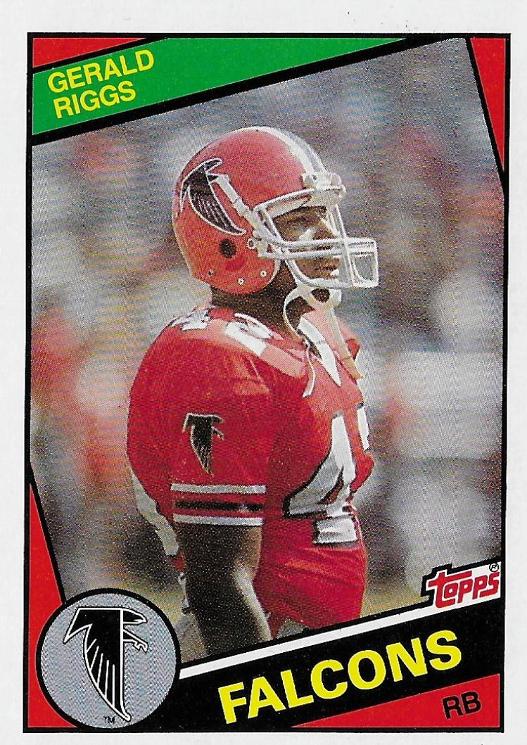 1984 Topps Gerald Riggs 218 Atlanta Falcons In 2020 Football Cards Football Cards