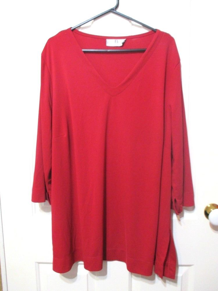 2db449baa73 LADIES PLUS SIZE 22 RED TOP LONG SLEEVES BIB MADE IN AUSTRALIA #BIB ...