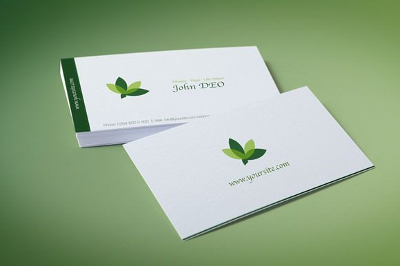 Organic Green Business Card - Business Cards - 1 | Business card ...