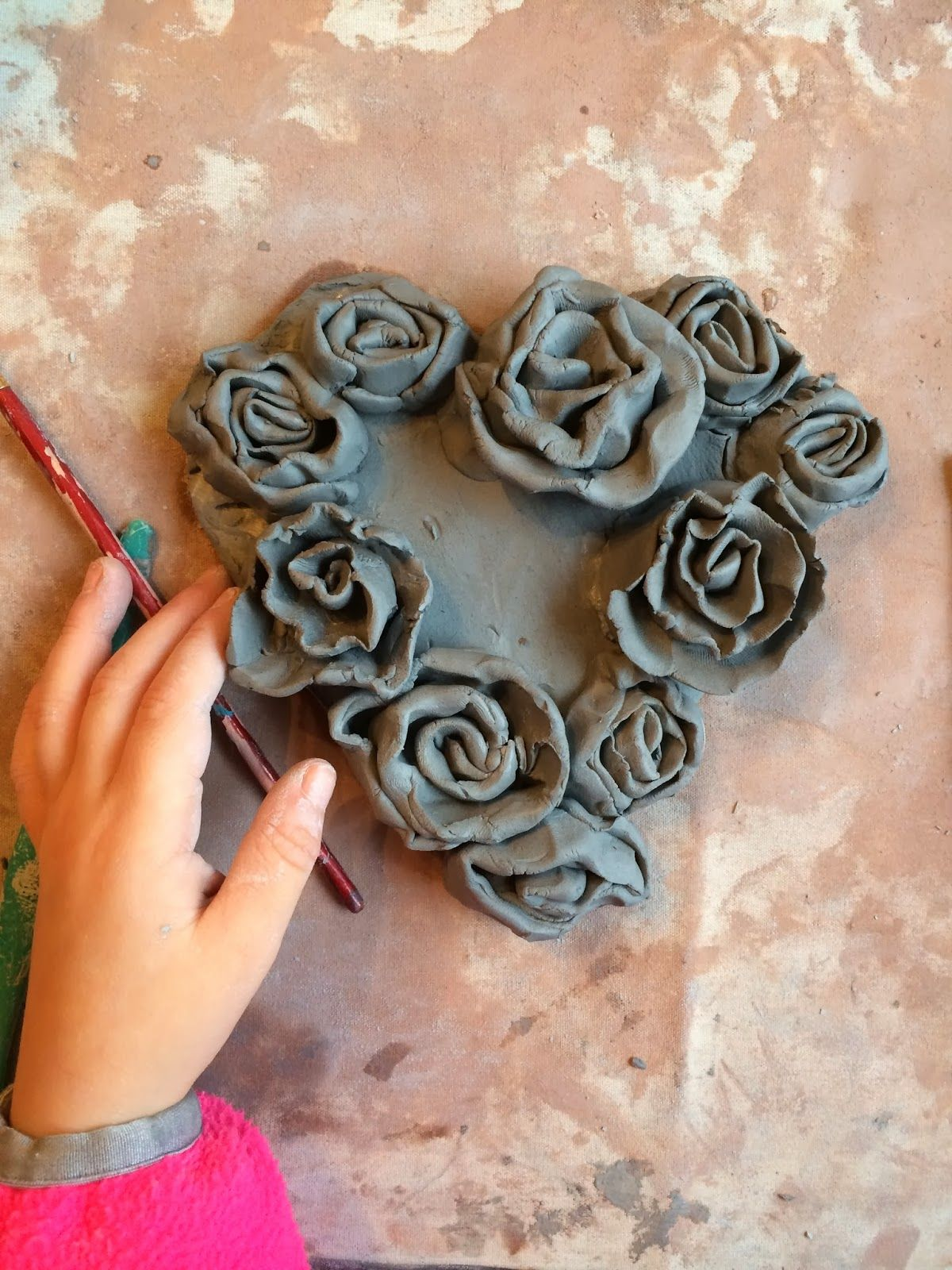smART Class: Simple Clay Rose Hearts http ...