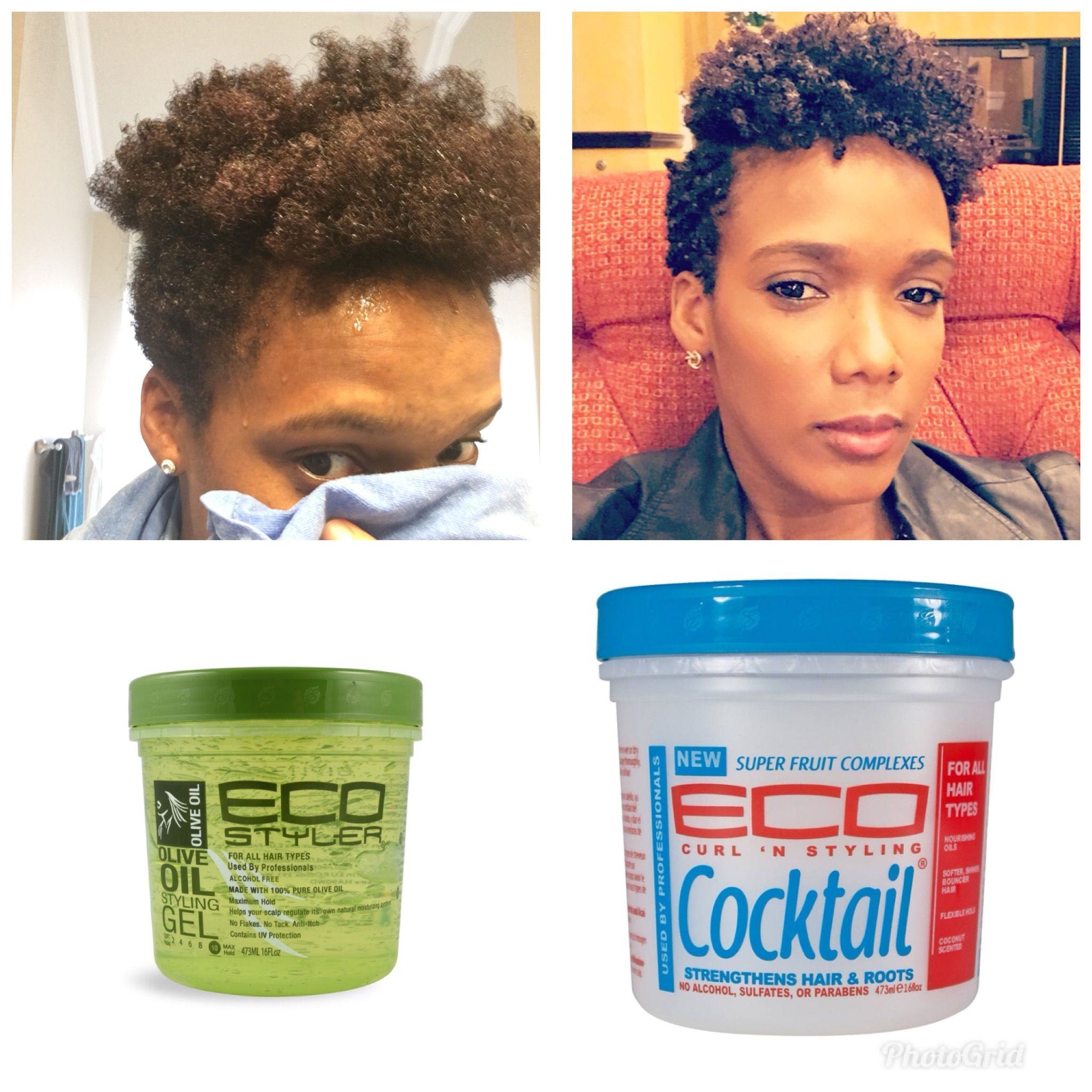 Pin By Sierra On Curly Hair Products Eco Styler Gel Air Dry Hair Short Natural Hair Styles