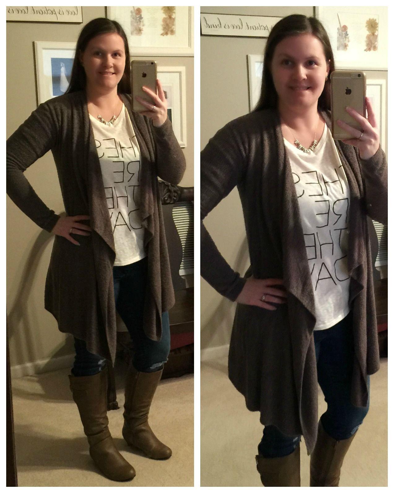 "What I Wear: Mom Style #19- My beloved ""blardigan"" layered over comfy tee"