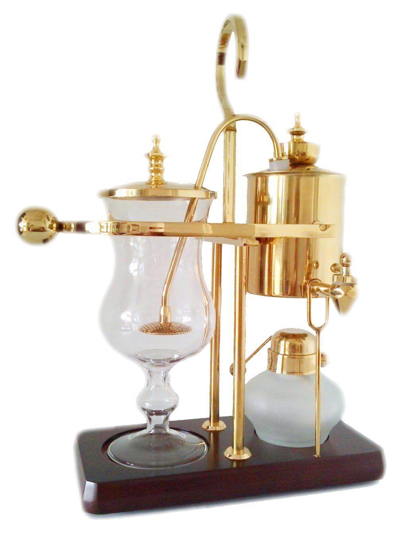 Belgian Belgium Luxury Royal Family Balance Syphon Siphon Coffee Maker Gold Color By NISPIRA