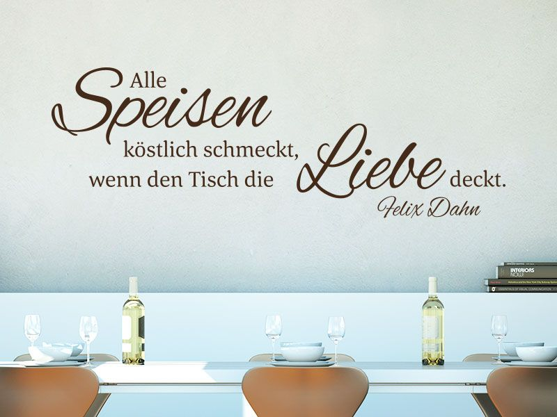 Wandtattoo Zitat Wenn den Tisch die Liebe deckt Do it yourself
