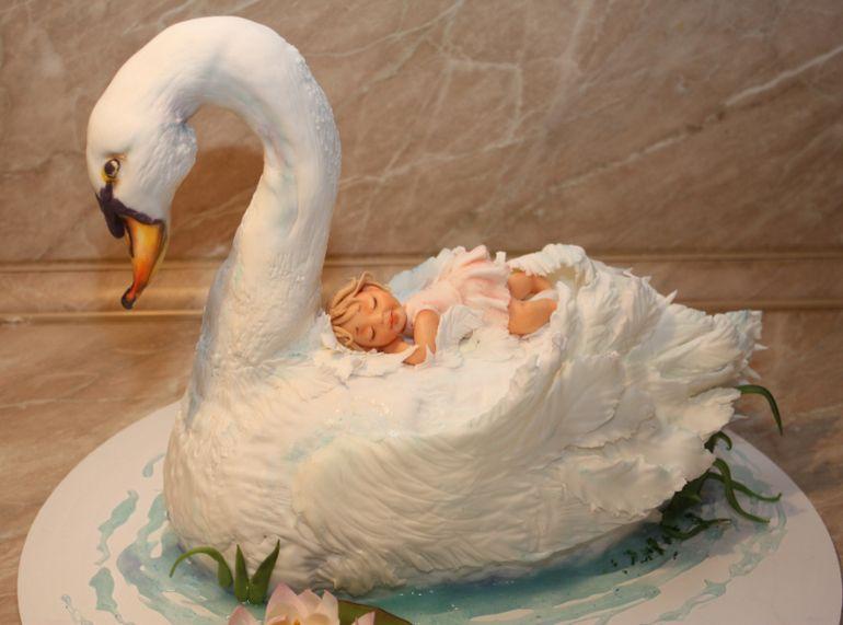 проблема ухода фото лебедей на торт это место
