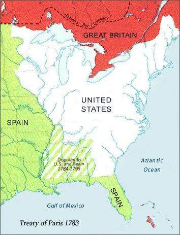 Map Treaty Of Paris Antique Maps Pinterest History - Us map 1783