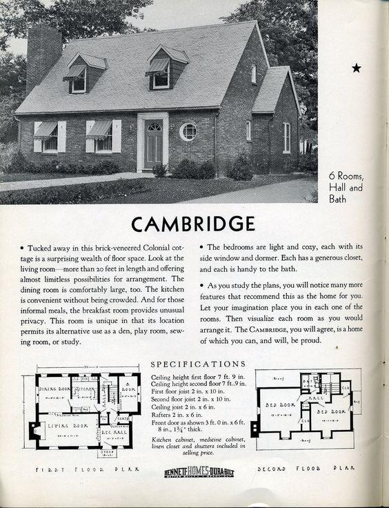 Flickr Vintage House Plans House Floor Plans Brick Veneer