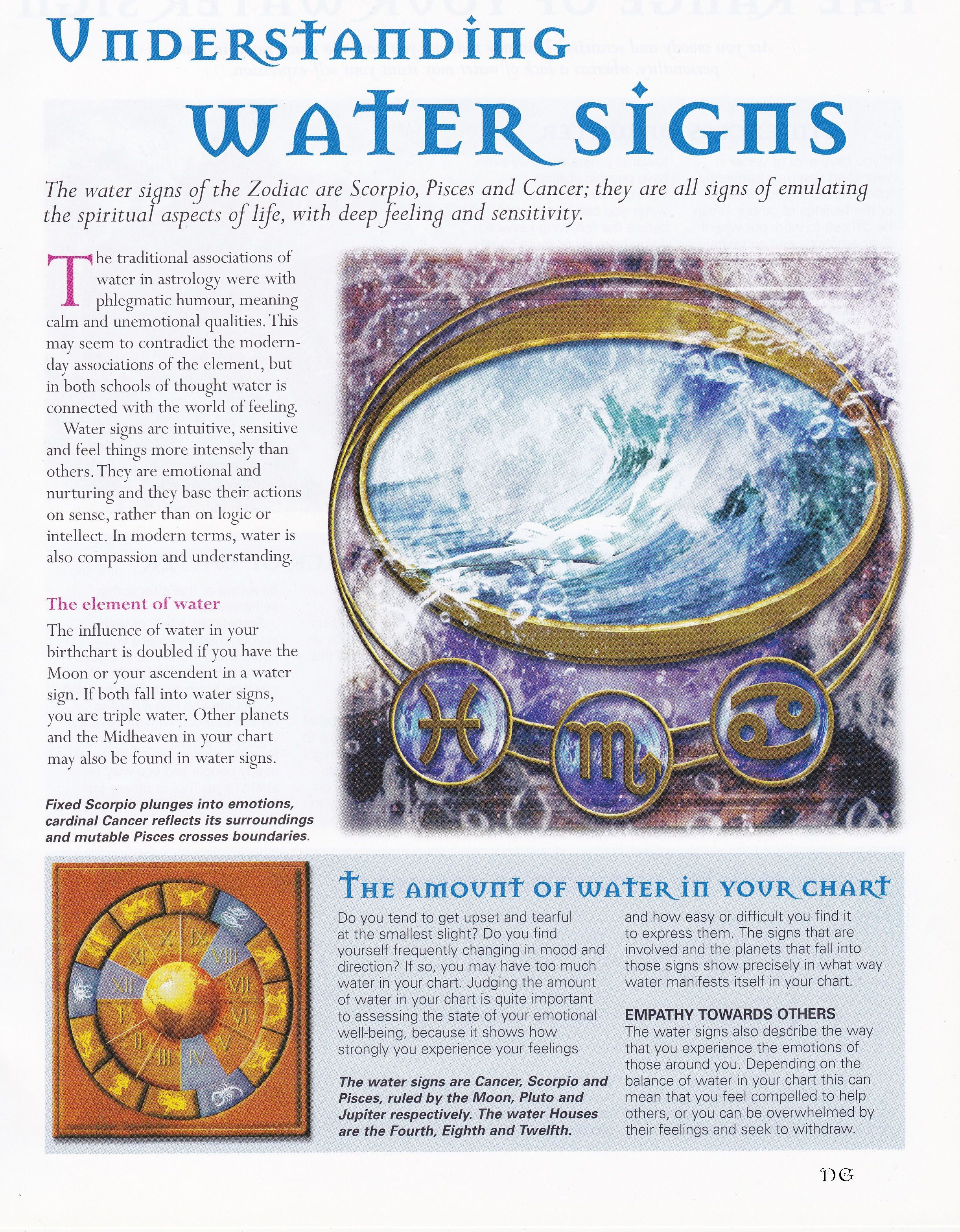 Astrology Understanding Water Signs Chinese Numerology