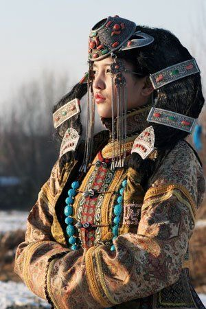 Mongolian headdress. One of the most colorful and original items of Mongolian national dress is the traditional head wear. The Mongolian headdresses differs in shape and purpose.