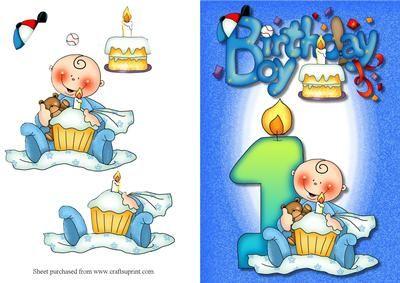 Baby boys 1st birthday quick card on craftsuprint designed by baby boys 1st birthday quick card on craftsuprint designed by lorraine smith a really cute bookmarktalkfo Choice Image