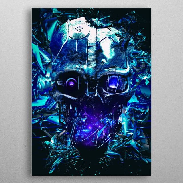 Dishonored mask of outsider metal print | Displate thumbnail