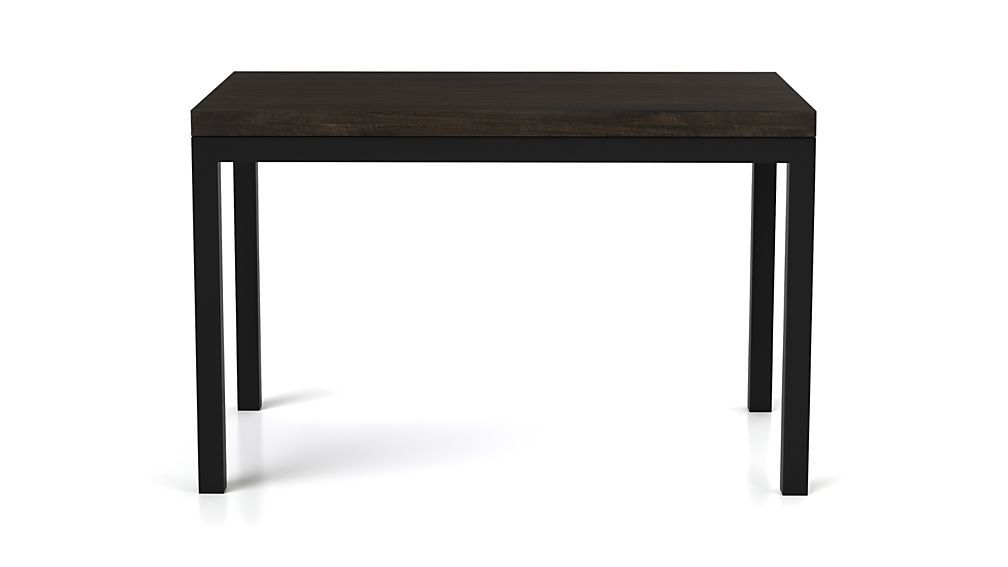 Myrtle Top Natural Dark Steel Base Parsons Dining Tables Crate