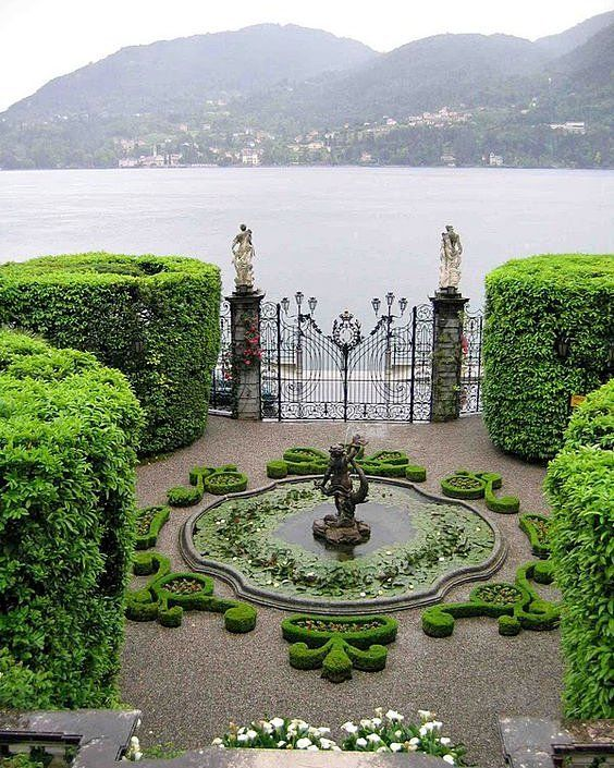 Villa Carlotta at Lake Como, Italy. Beautiful gardens