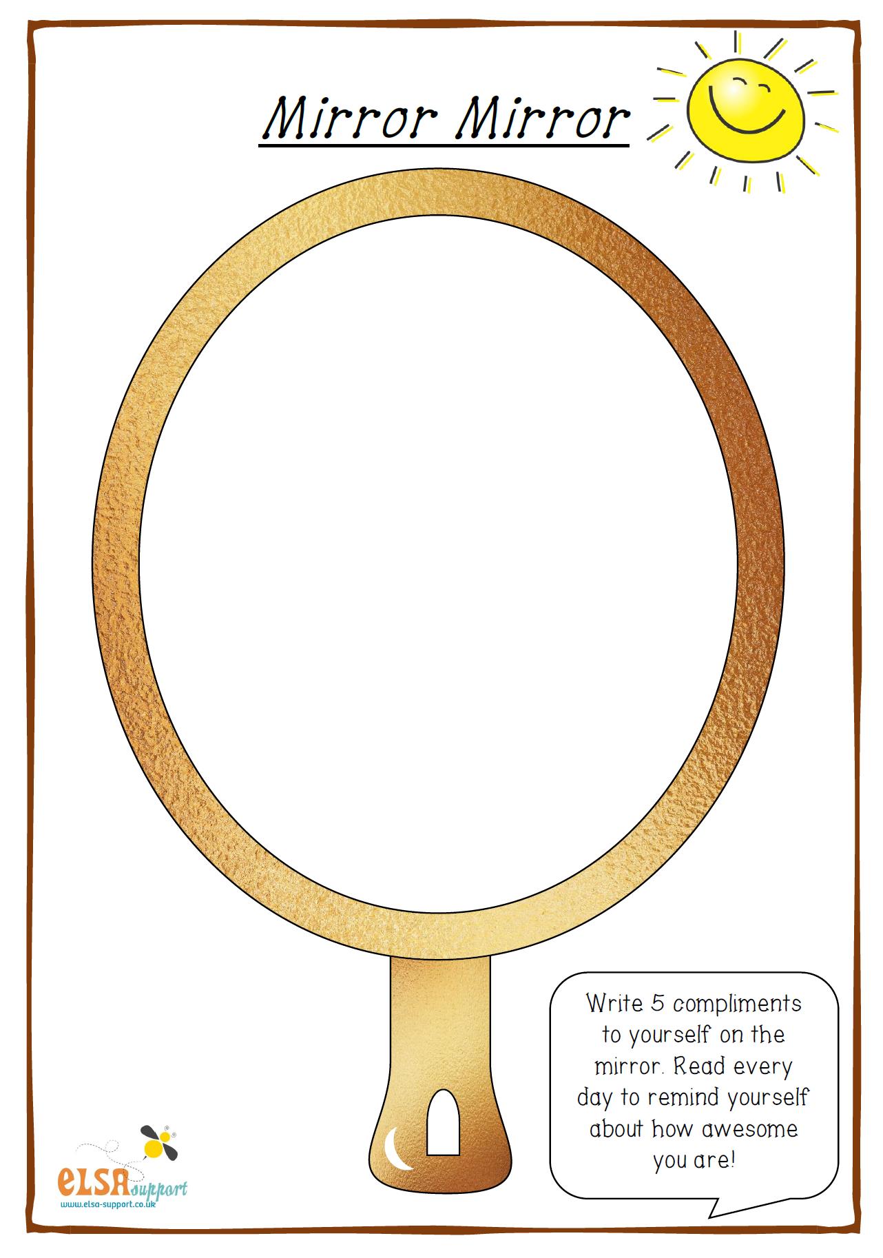 Mirror Mirror Self Esteem Activities Self Esteem Worksheets Self Esteem [ 1826 x 1282 Pixel ]