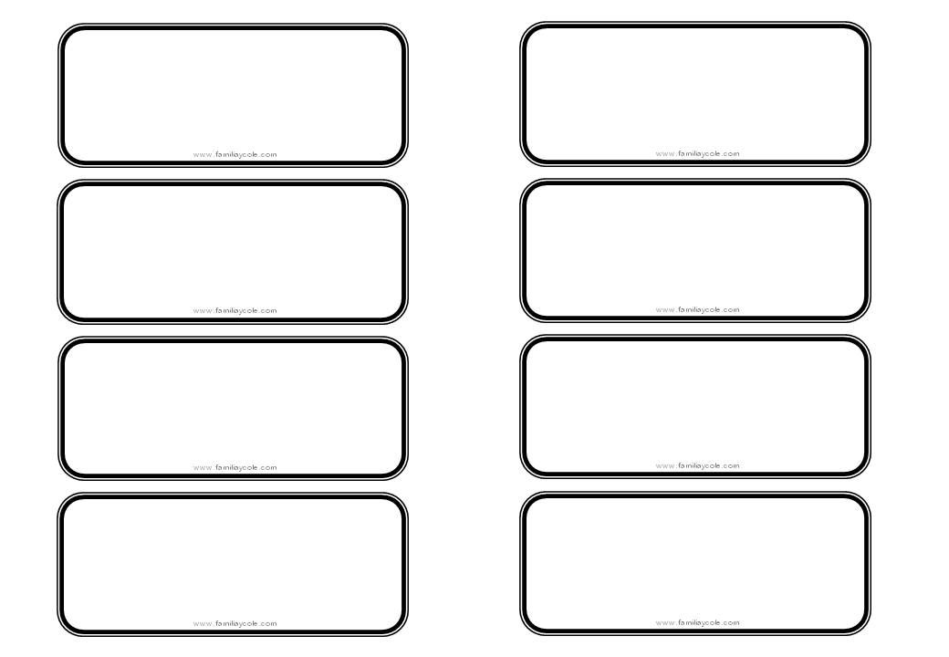 Imagenes Escolares Para Imprimir: Modelo De Etiqueta Para Descargar Sin Dibujo