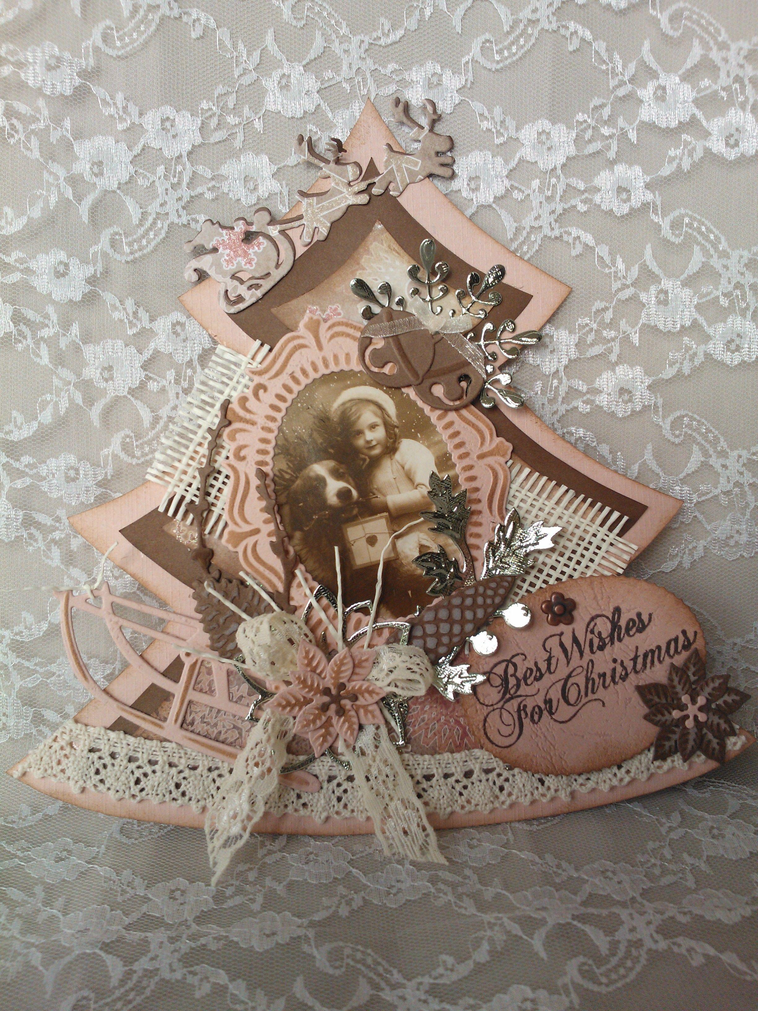 Best wishes met kerstboom van Dutch Doobadoo!