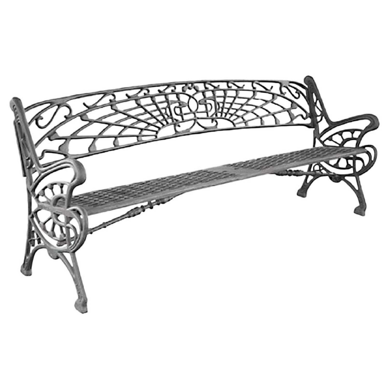 New Large Black Cast Aluminum Garden Or Park Bench Wrought Iron Furniture Park Bench It Cast