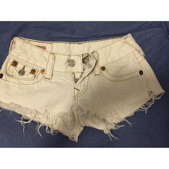 True Religion Shorts All White True Religion Shorts True Religion Shorts Jean Shorts