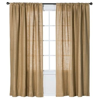 Nate Berkus Burlap Curtain Panel Living Room Burlap