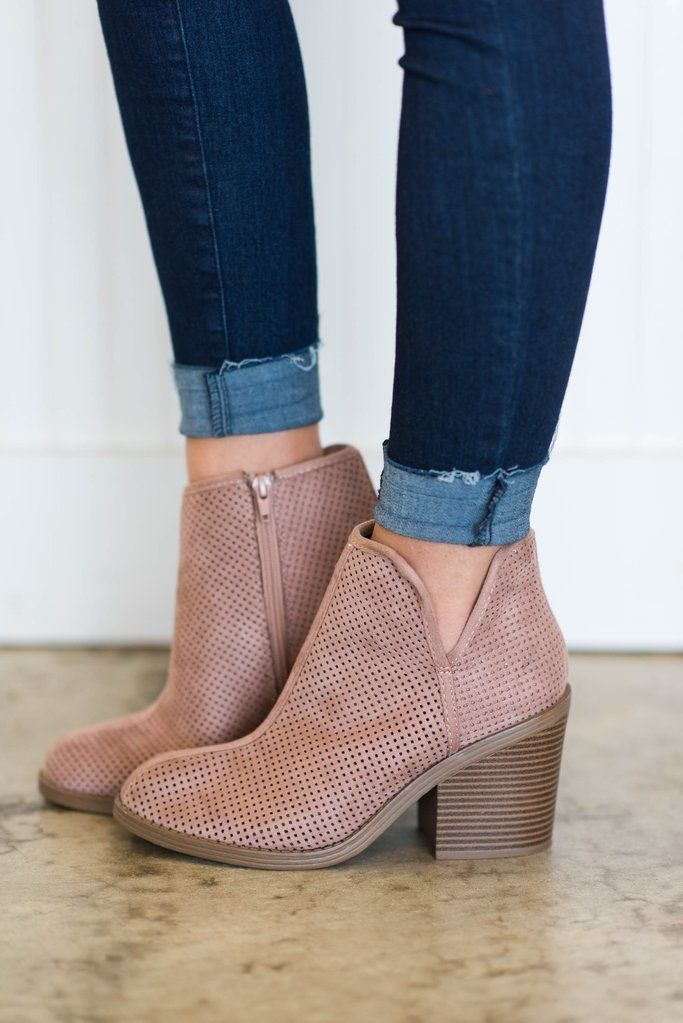 What A Looker Booties, Blush - What A Looker Booties, Blush #fallshoes