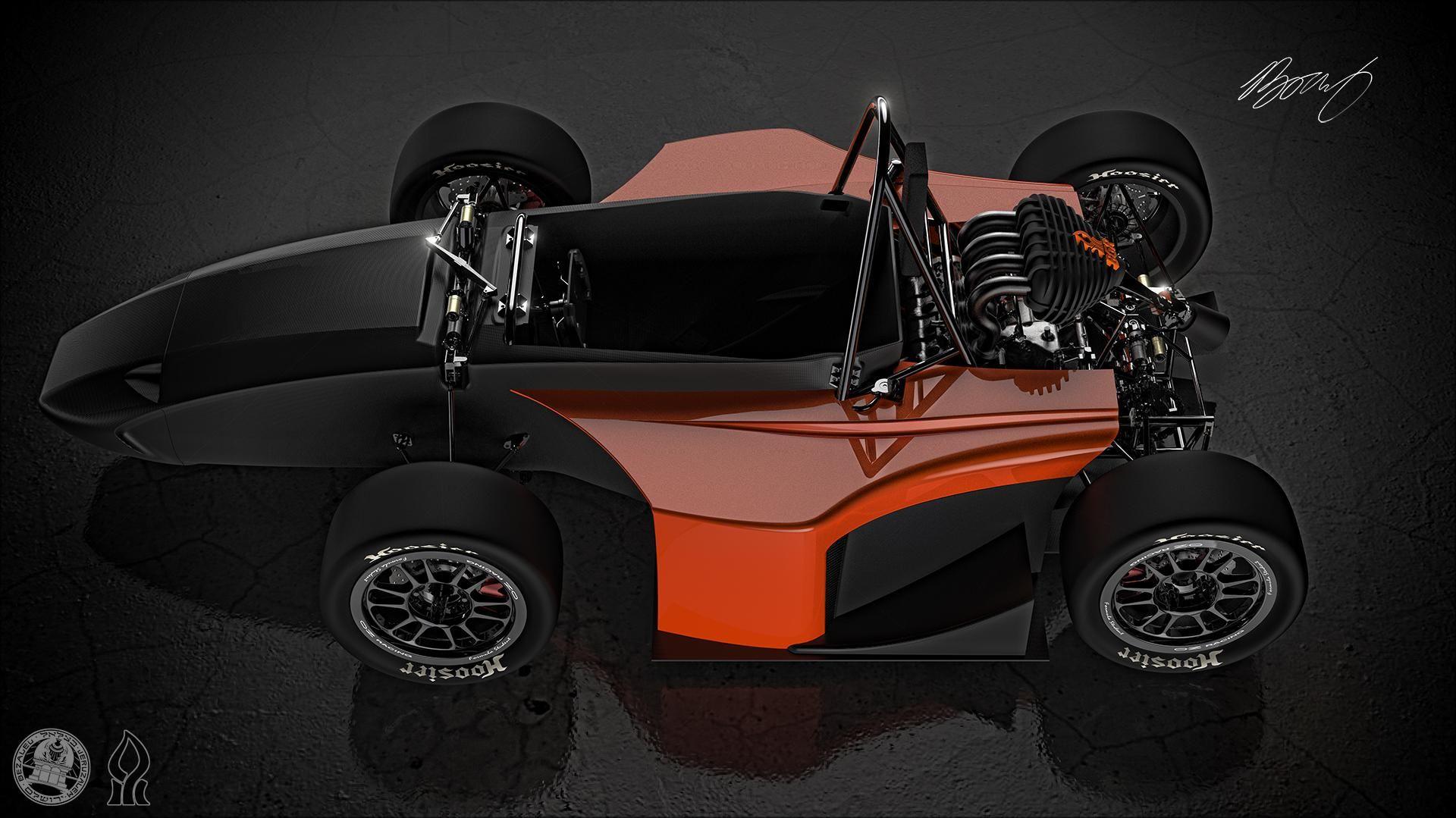 Formula SAE race car. The BGR 2014, modeled in SolidWorks