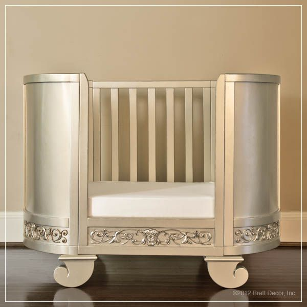 Chelsea Collection Darling Crib In Antique Silver Boy Nursery