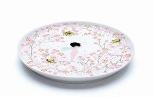 DD02409 Assiette plate Creme Fleurette