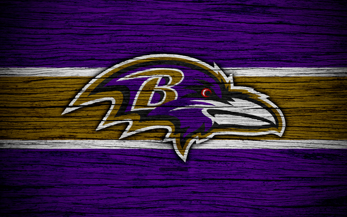 Download wallpapers Baltimore Ravens, NFL, 4k, wooden