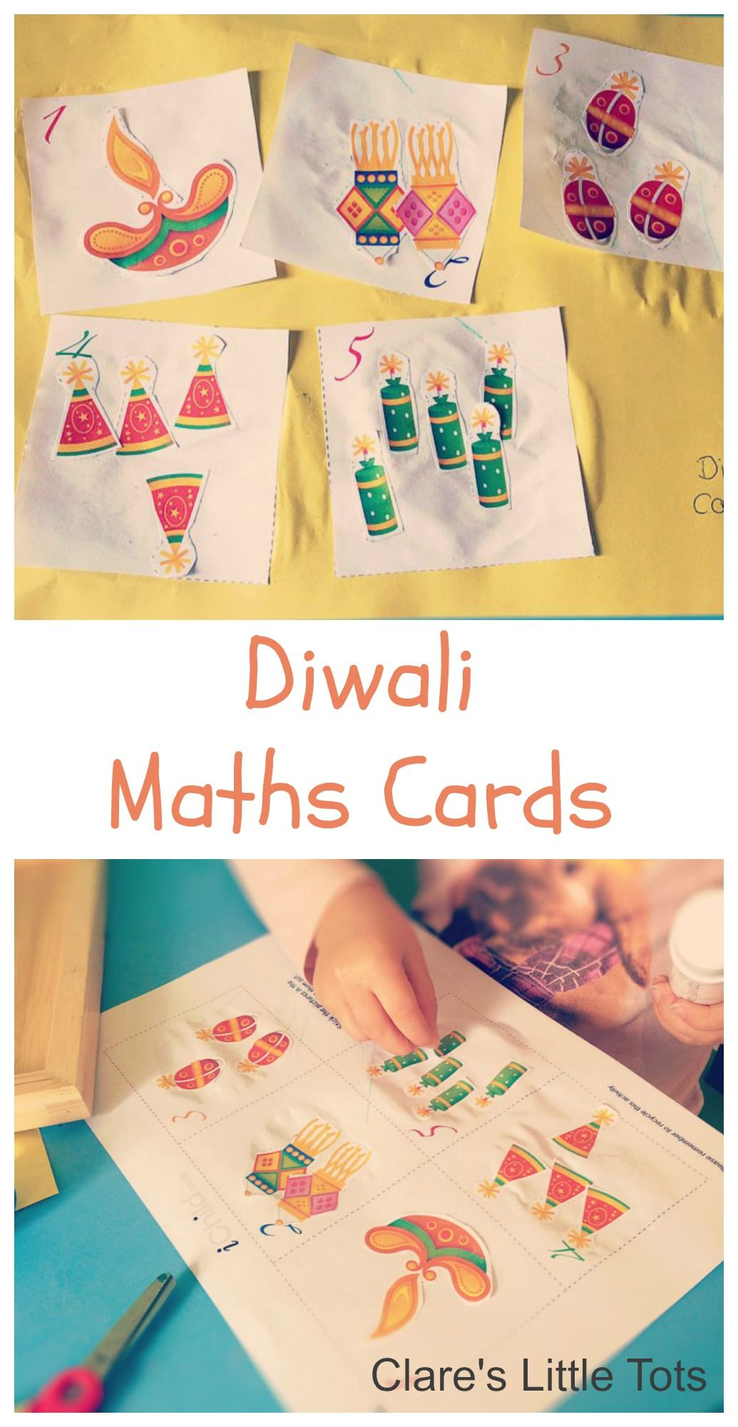 Diwali Number Cards December Diwali Activities Counting