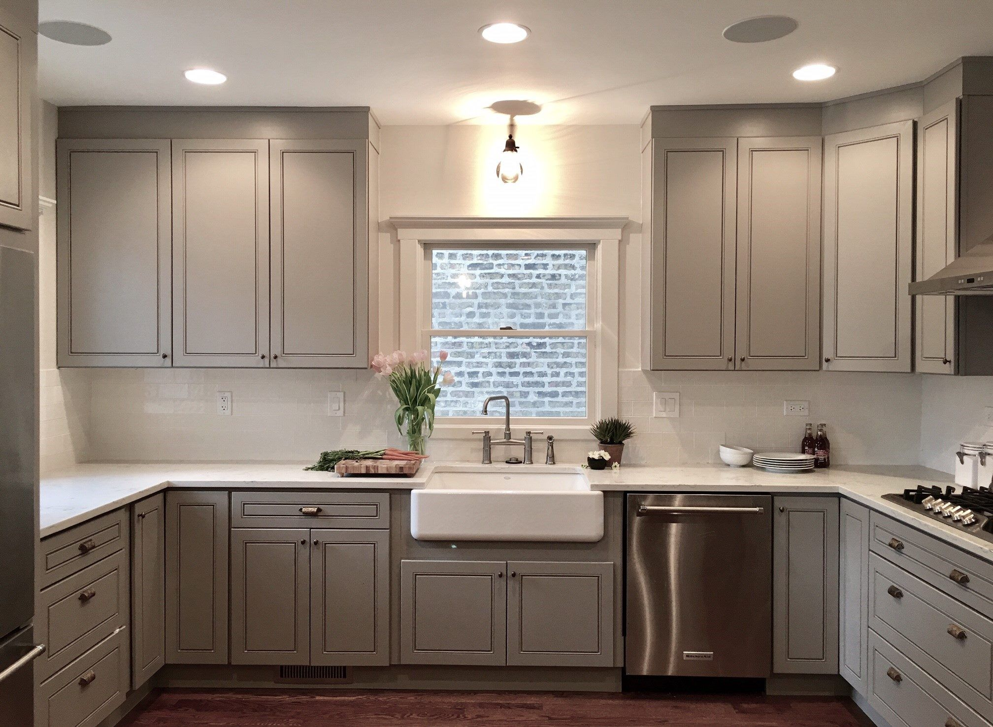Modern grey cabinets #GTime #Niles #Chicago #Kitchen # ...