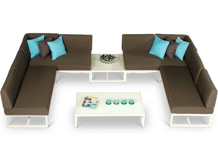 Aluminium 2 Seat Sofas, 2 Armless Sofas and 2 Coffee ...