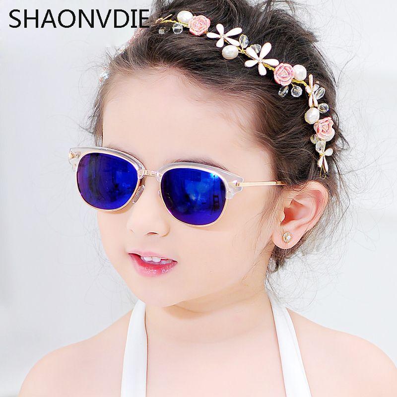 d928d0870da 2017 New Fashion Children Sunglasses Boys Girls Kids Baby Child Sun Glasses  Goggles UV400 mirror glasses