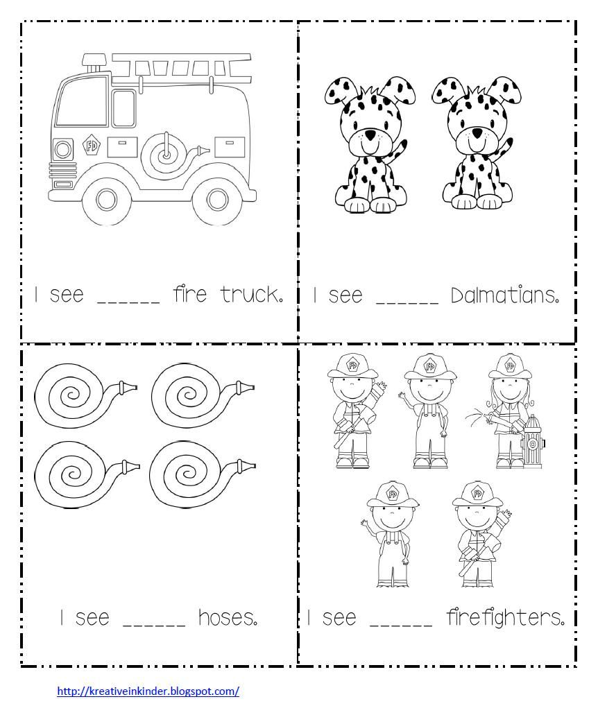 Math Worksheet for Fire Safety Week – Kindergarten Fire Safety Worksheets