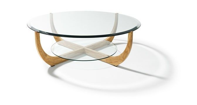 Table Basse Ronde Bois Et Verre Table Basse Miroir Infini In 2020 Round Glass Coffee Table Glass Coffee Table Coffee Table Setting