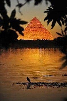 Noche bajo las pirámides de Egipto