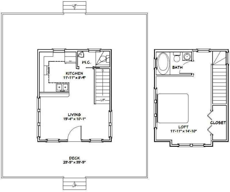 16x20 Tiny House 1 Bedroom 1 5 Bath Pdf Floorplan 579 Sqft