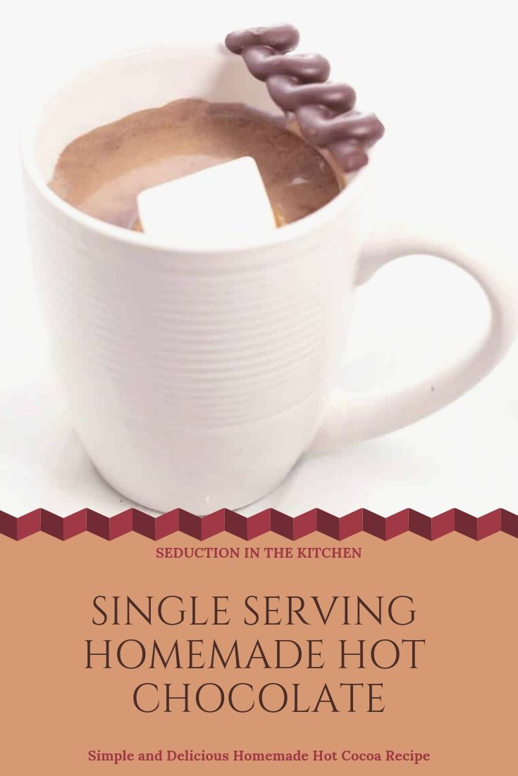 Single Serving Homemade Hot Chocolate #hotchocolaterecipe