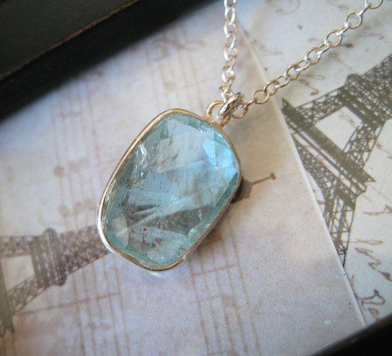 Gorgeous aquamarine pendant by Amitie Designs.