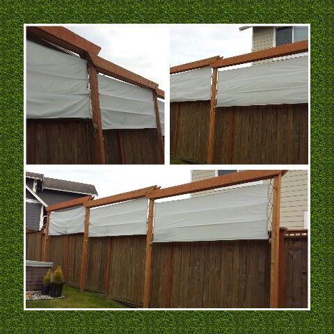 outdoor privacy screen my hubby and i made it nylon kite material sewn panels - Outdoor Privacy Screens