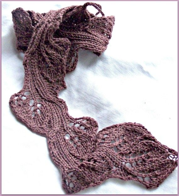 Twig - the skinny scarf made from scrap sock yarn is the perfect ...