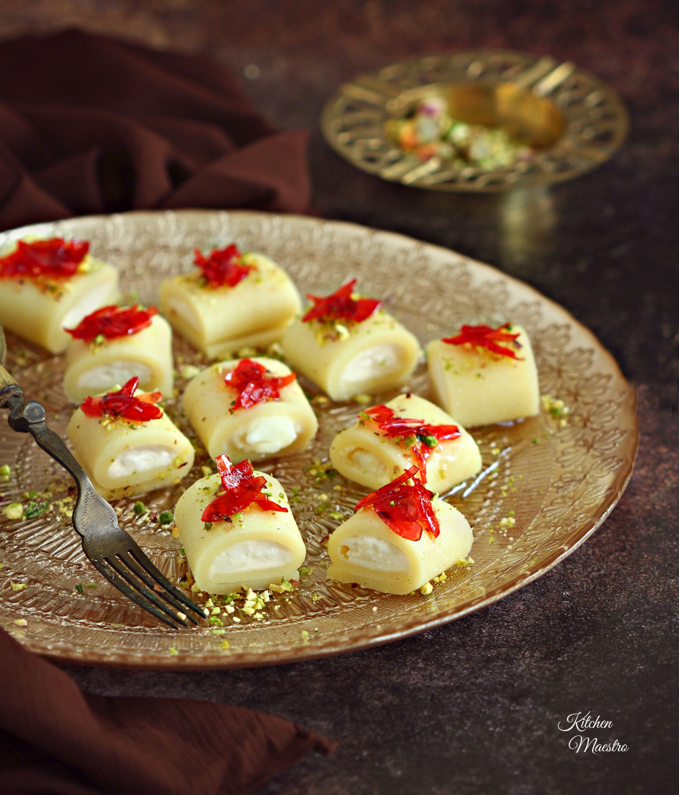 Halawet el jibn (sweet cheese rolls), one of the Middle ...