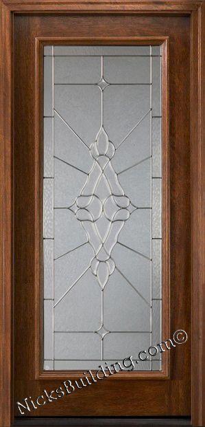 Decorative Glass In Real Wood Door Full View Door Glassdoor