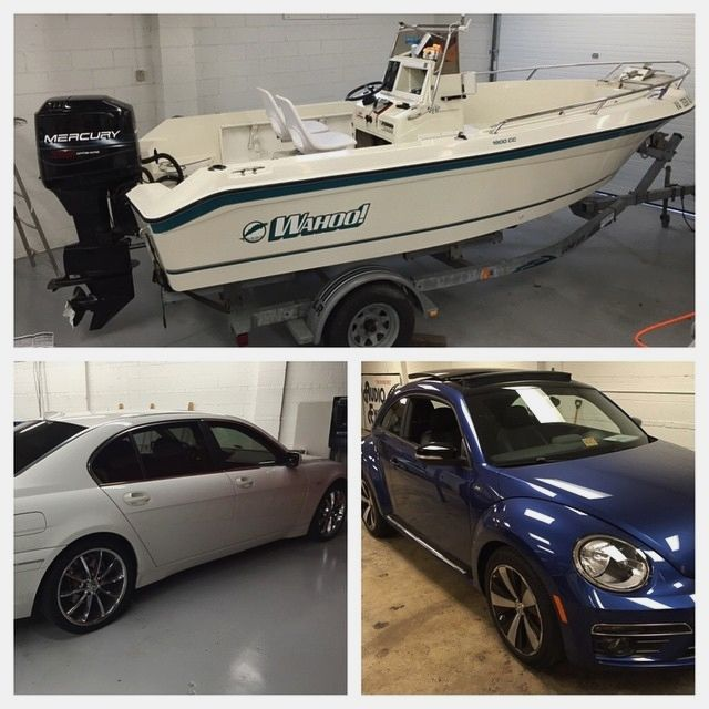 boats bimmers and beetles oh my! We've got a boat in