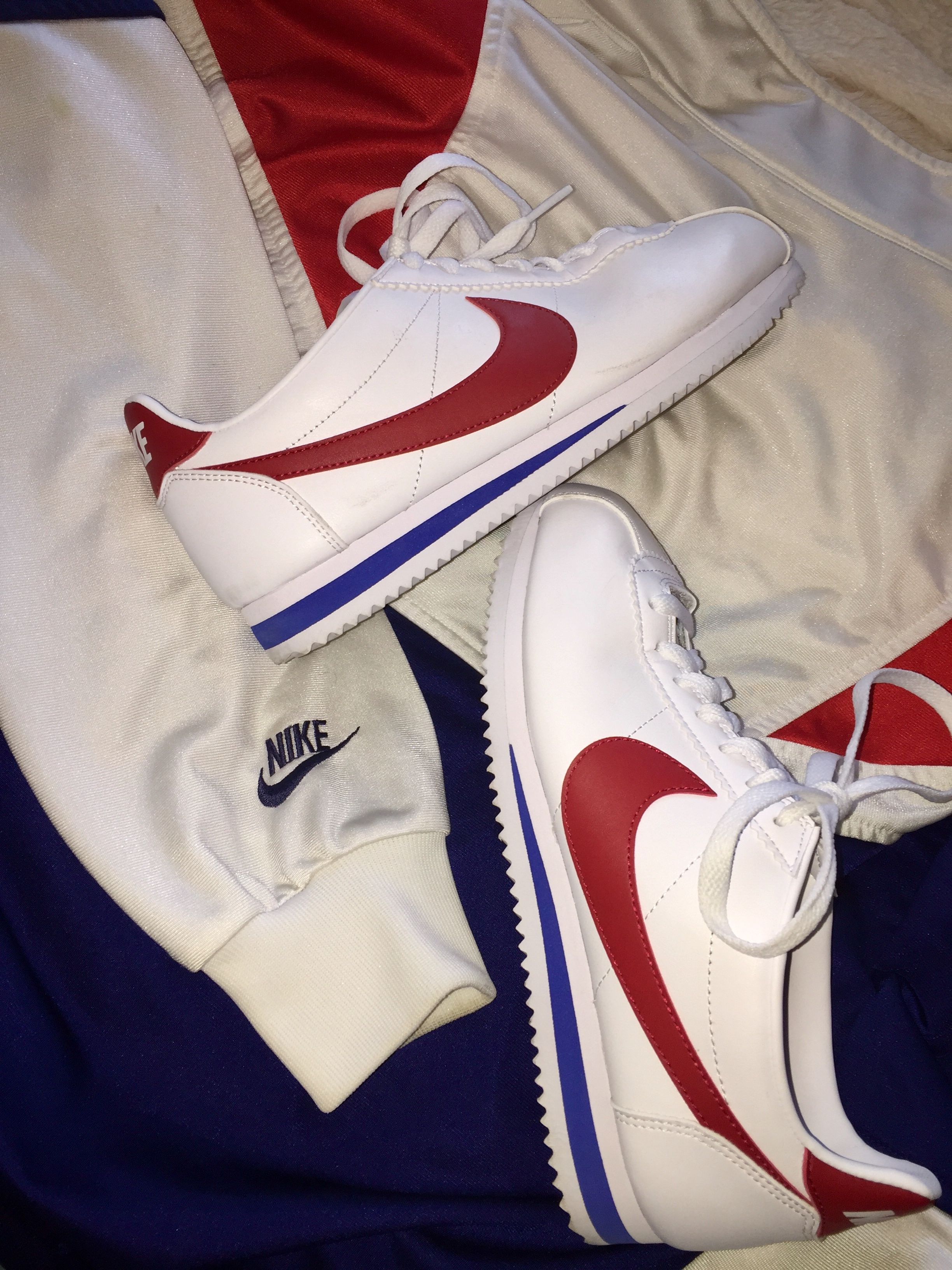 Red white and blue  Nike  cortez  nikecortez  shoes  outfit ... 75319bd3d