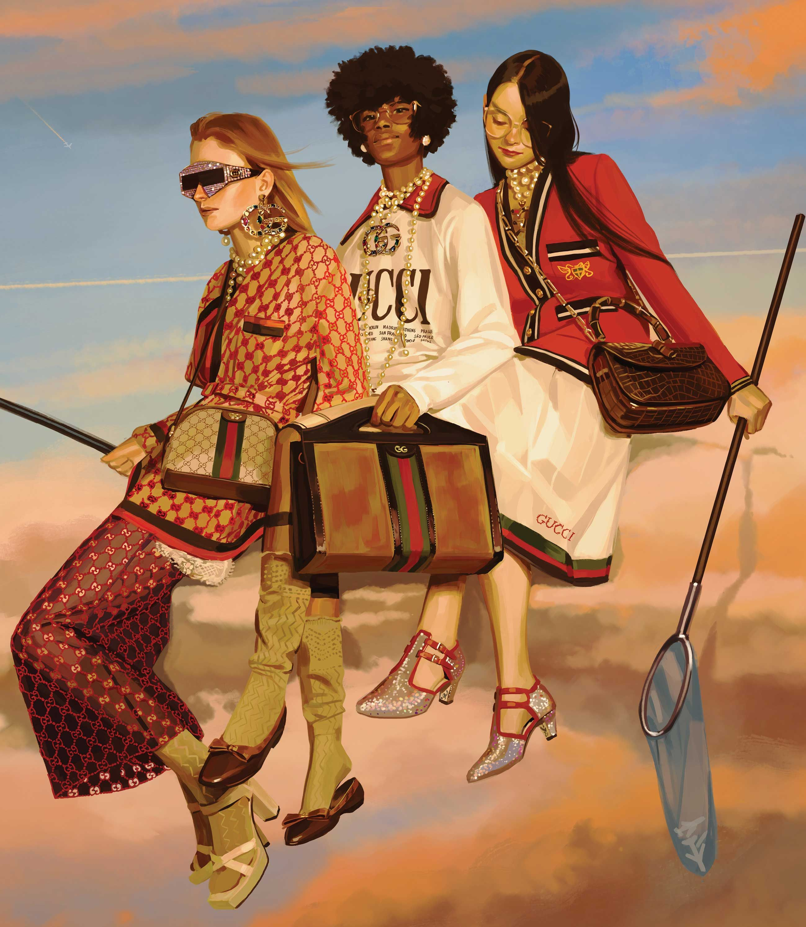 d93bb383134 Gucci Spring Summer 2018 advertising campaign