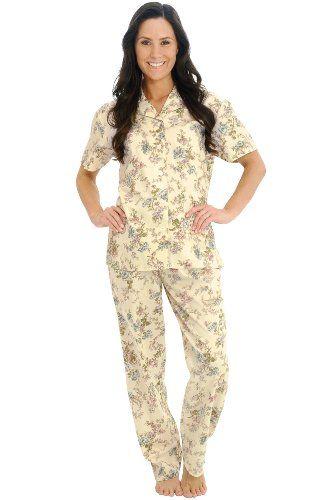 71bd803271 Del Rossa Women s 100% Cotton Short Sleeve Pajama Set with Pj Pants Best  Pajamas