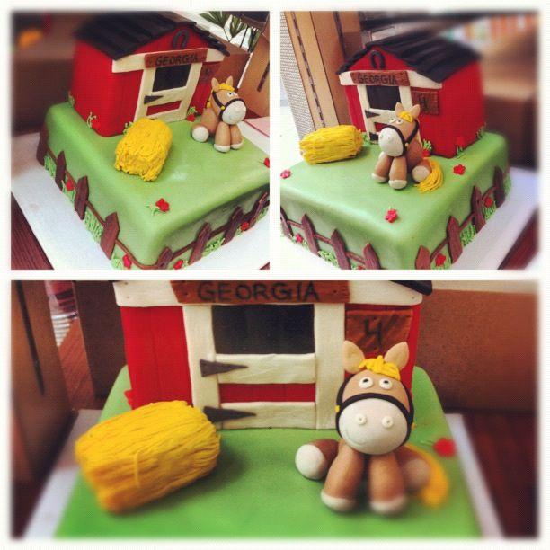 Birthday Cake Horse Stable Carlascakes Preston Birthday