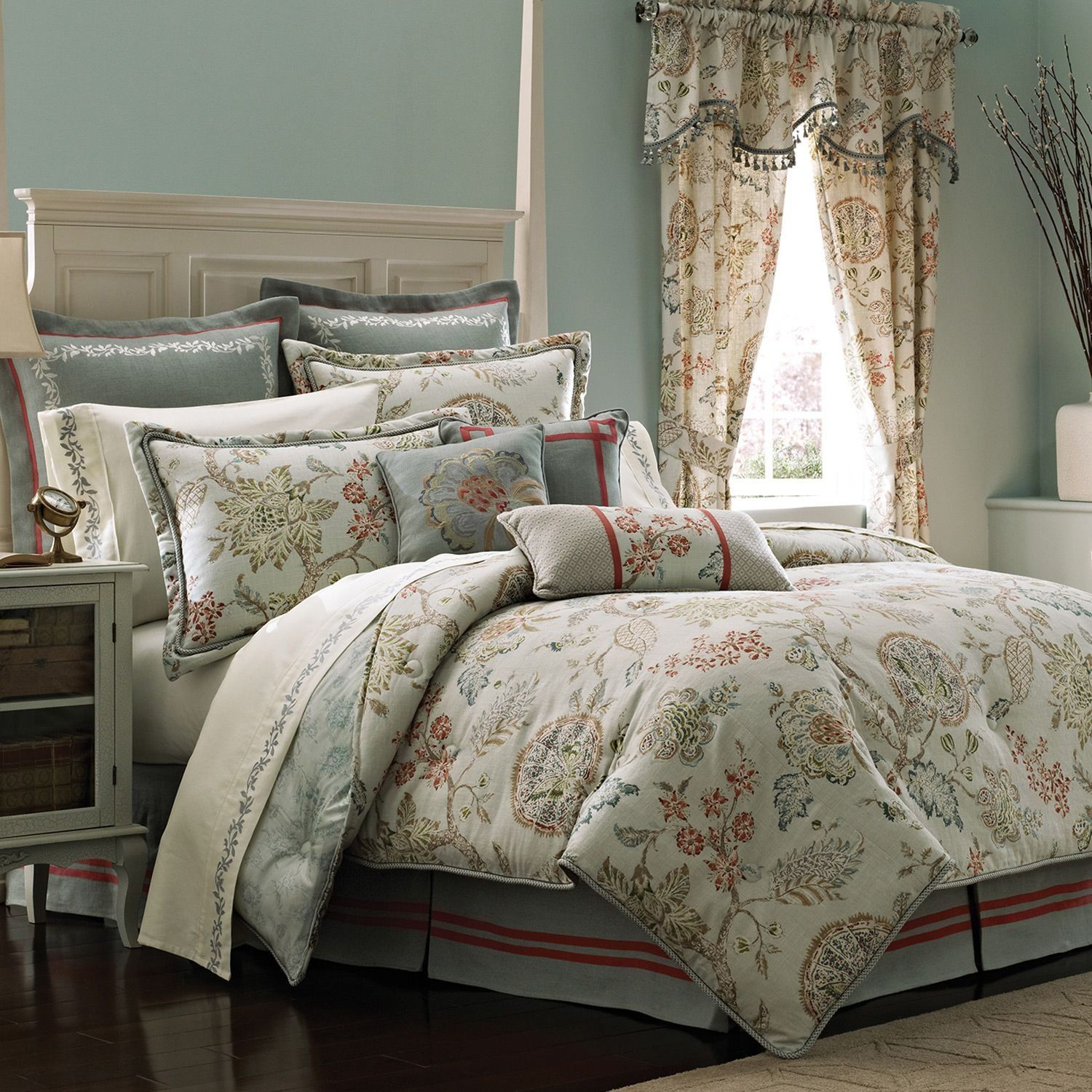 Comforter Sets With Curtains Amazon Croscill Retreat Comforter Set King Aqua Bedding